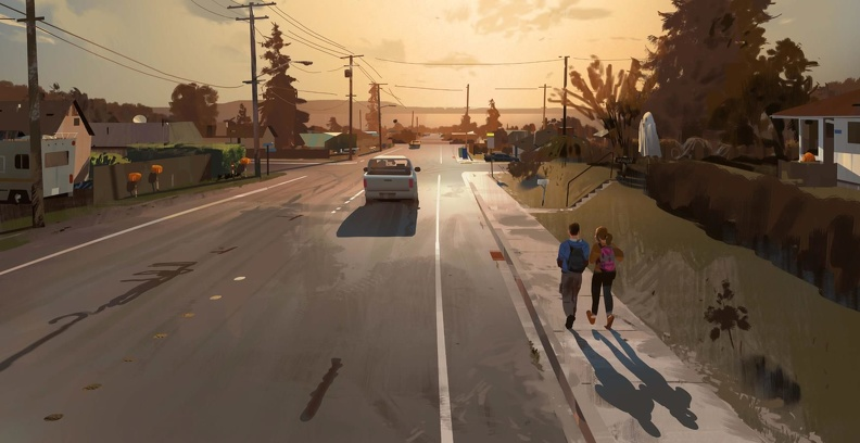 GDC 2019 Conference Slideshow - Roads - Sean and Lyla Walking Home