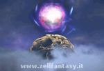 La sfera viola che fluttua sull'Albero di Iifa...