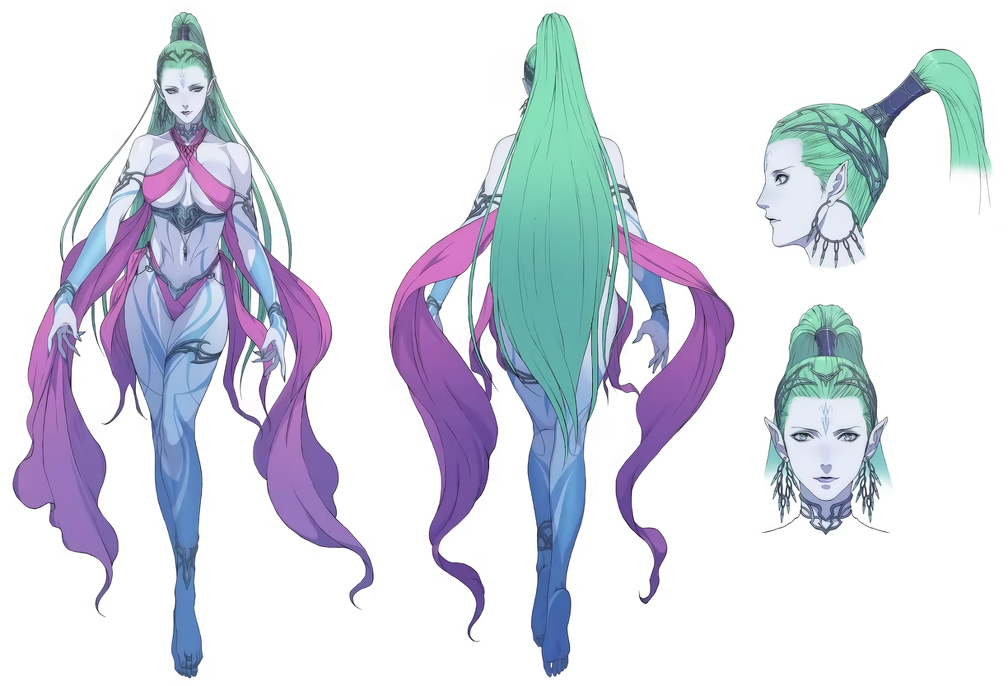Shiva concept art from Final Fantasy VII Remake